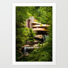 Fallingwater Summer - Horizontal Art Print
