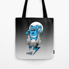 StormBot - Blue Robot Tote Bag
