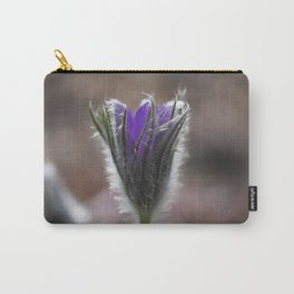 Opening Pasque Flower Carry-All Pouch