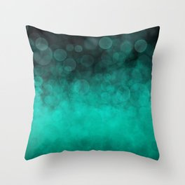 Aqua Cyan Spotted Throw Pillow