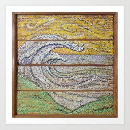 Waves on Grain Art Print
