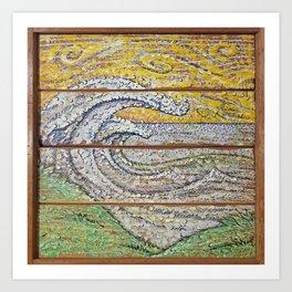 Waves on Grain Art Print