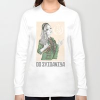 russian Long Sleeve T-shirts featuring Russian Revolution by Sara Elan Donati