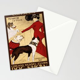 Vintage poster - Chicago Kennel Club's Dog Show Stationery Cards