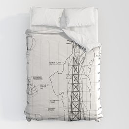 Statue of Liberty Structural Schematic Comforters
