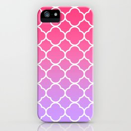 Pink & Lavender Ombre Quatrefoil iPhone Case