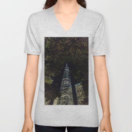 Freedom through the trees - NYC Unisex V-Neck