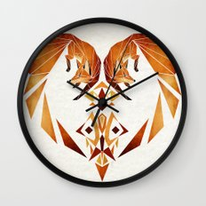 foxes heart  Wall Clock