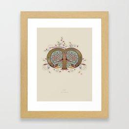 Celtic Initial M Framed Art Print