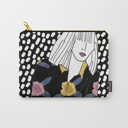 Fashion illustration girl in the night Carry-All Pouch