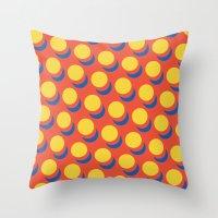 lichtenstein Throw Pillows featuring Wanna-Be Roy Lichtenstein Pattern by Heidi Clifford