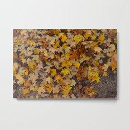 Leaves on Fire Metal Print