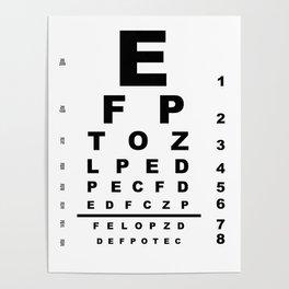 Eye Test Chart Poster