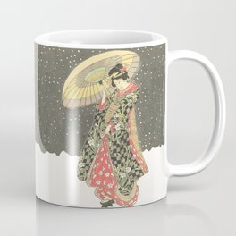 In the snow with an umbrella Coffee Mug