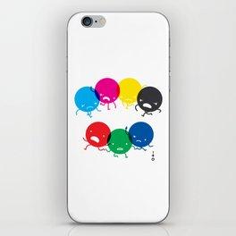 CMYK fights RGB iPhone Skin