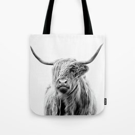 Portrait of a Highland Cattle Tote Bag