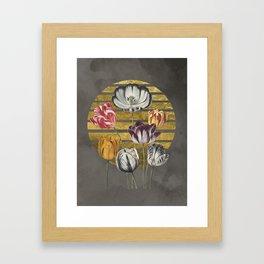 Dramatic Tulips Framed Art Print
