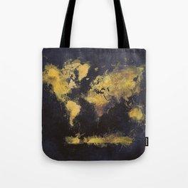 world map 65 yellow Tote Bag