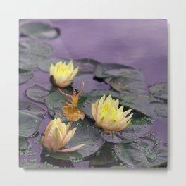 tinker bell & tiger lilies Metal Print