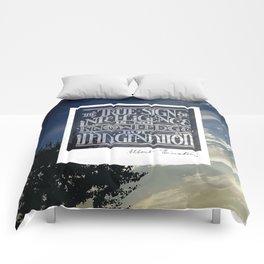 True Sign of Intelligence Comforters