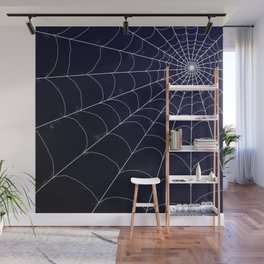 Spiderweb on Midnight Wall Mural