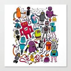 Robots 2 Canvas Print