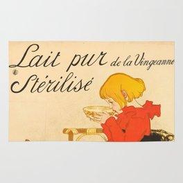 """Théophile Steinlen """"Lait Pur de la Vingeanne Stérilisé"""" Rug"""