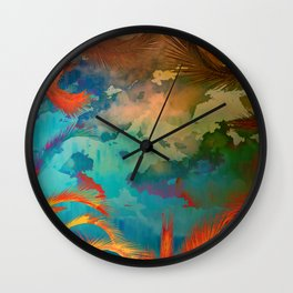 A place for lying down and look up / Botanic Wall Clock