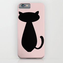 Cat Lurking in the shadow pink  iPhone Case