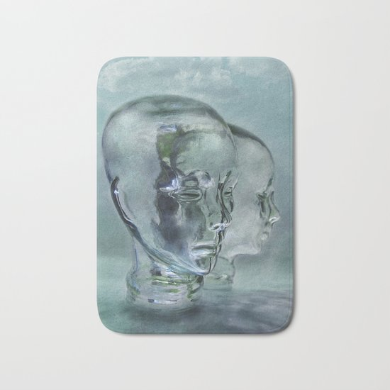 Glasmensch im Internet Bath Mat