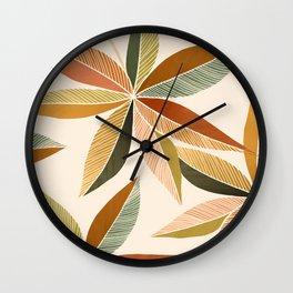 Autumn Japanese Maple / Botanical Design Wall Clock
