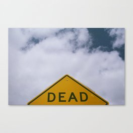 D E A D Canvas Print