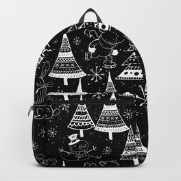 Merry Christmas - Simple X-mas Fun Winter Forest Doodle - Mix & Match with Simplicity of Life Backpack