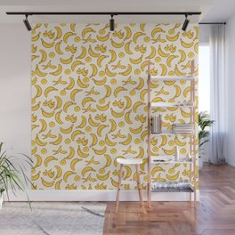 Yellow Banana Pattern Wall Mural