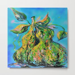 Abstract Pears Metal Print