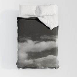 Clouds in black and white Duvet Cover