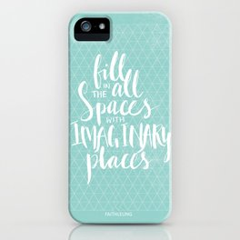 Fill in all the spaces with imaginary places iPhone Case