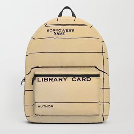 Library Card BSS 28 Backpack