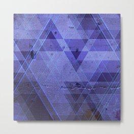 Blue concrete Metal Print