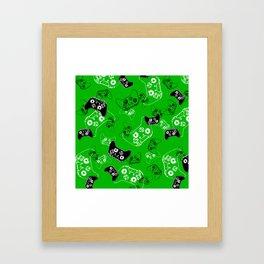 Video Game Green Framed Art Print