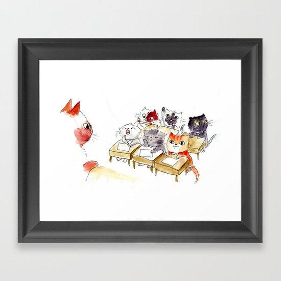 Kitten School Framed Art Print