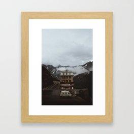 Hotel Belvedere, Furka Pass Framed Art Print
