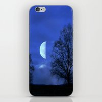 kindle iPhone & iPod Skins featuring Moon between Trees  - JUSTART © by JUSTART