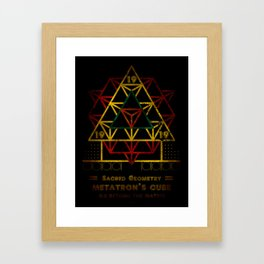 Sacred Geometry for your daily life - METATRON FIRE Framed Art Print