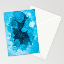 Blue Geode Crystal Stationery Cards