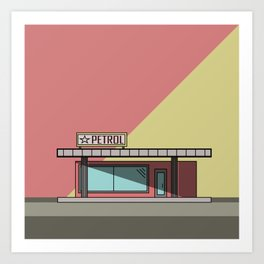 Petrol Station Art Print