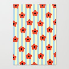 Poppies & Stripes Canvas Print