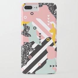 Spliced Geometric Memphis Pattern Geo Stripes iPhone Case