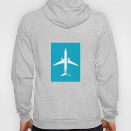 737 Passenger Jet Airliner Aircraft - Cyan Hoody