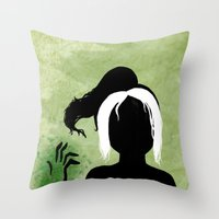 rogue Throw Pillows featuring Rogue by Sprite